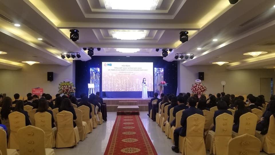 Tiệc HỘI NGHỊ Tổng kết hoạt động năm 2020 – Ngân hàng MB Bank – SẢNH PARADISE